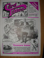 CARD TIMES MAGAZINE FORMERLY CIGARETTE CARD MONTHLY No 72 NOVEMBER 1995