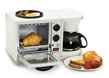 BREAKFAST STATION ! ELITE CUISINE 3-in-1 Toaster Oven,Coffee Maker,Griddle !