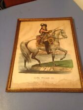 Antique Currier & Ives Lithograph King William III Crossing The Boyne