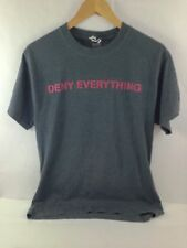 "International Spy Museum ""Deny Everything"" Dark Grey T Shirt Mens M 38-40"