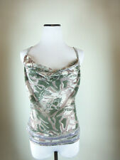 NEW MUNTHE PLUS SIMONSEN COPENHAGEN SILVER CAMO GREEN BROWN CAMISOLE TOP 40 M
