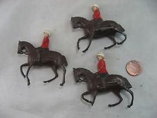 Vintage Britains Toy Lead Soldier on a Horse Made in England Lot of 3