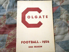 1954 COLGATE RAIDERS FOOTBALL MEDIA GUIDE Yearbook Press Book Program College AD