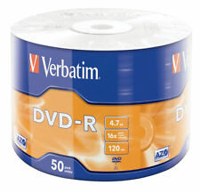 100 DVD -R VERBATIM vergini vuoti 16X Advanced Azo dvdr 4.7 GB + 100 bustine pvc