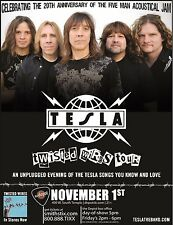 "TESLA ""TWISTED WIRES TOUR"" 2011 SALT LAKE CITY CONCERT POSTER-Heavy Metal Music"