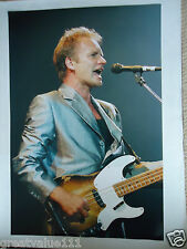 STING PHOTO 1996 HUGE 16 INCH x 12 INCH UNIQUE UNRELEASED  IMAGE LONDON COLOUR