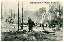 INCENDIE DE BRUXELLES EXPOSITION. 14-15 AOUT 1910.FIRE IN BRUSSELS.FIREFIGHTERS.