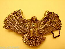"BELT BUCKLE VINTAGE 1980 ""BALD EAGLE"" SOLID BRASS BARON 6207  NOS"