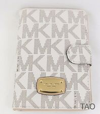 Michael Kors Jet Set Item Passport Case Holder Wallet Sig PVC Vanilla New NWT
