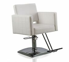 Eastmagic Hydraulic Barber Chair Styling Chair Salon Beauty Equipment(white)