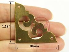 8PCS Brass Corners Chinese Auspicious Cloud Hardware For Cupboard Jewelry Box