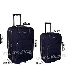 Set 2 Suitcases Trolly Semi-rigid Luggage Medium And Hand - Various Colours