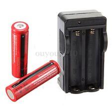 2x 18650 3800mAh 3,7V Li-Ion Batterie Pile rechargeable Chargeur pr lampe torche