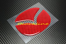 For 06+ Mazda Miata MX-5 MX5 Roadster Carbon Fiber Hood Emblem Decal Insert RED
