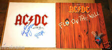 AC/DC FLY ON THE WALL SIGNED LP ANGUS YOUNG MALCOLM SIMON UACC REGISTERED DEALER