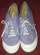 Clarks Originals womens oxfords casual shoes 11 M Purple Leather Upper
