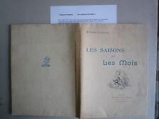 1899 LES SAISONS ET LES MOIS DE S LIEGEARD SONNETS EAUX FORTES DE AVRIL FOCILLO
