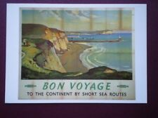 POSTCARD DGS-329 BRITISH RLY - BON VOYAGE TO THE CONTINENT