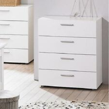 4 Drawer Chest of Drawers Wooden Dresser White Bedroom Furniture Modern NEW