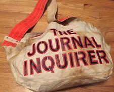 Vintage 50s JOURNAL INQUIRER Newspaper Canvas Shoulder Bag Salesman Newsboy Bag.