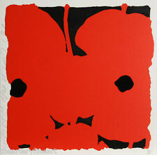 DONALD SULTAN 'Red Poppies' SIGNED Limited Edition Silkscreen Print w/ Flocking