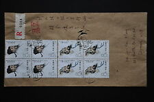 China PRC J58 Scientists Set Stamps on Cover - Reg'd Hubei-Wuhan cds 1983.1.10