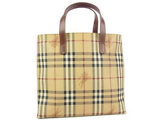 Auth BURBERRY LONDON Logos Nova Check Patten Tote Hand Bag F/S 13399eQaB