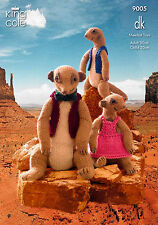 Double Knitting Pattern Only King Cole DK Meerkat Toy Adult & Child Family 9005