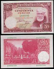 ESPAÑA 50 pesetas. Año 1951. Serie A. Santiago Rusiñol. Nº 6365798. ESCASO.