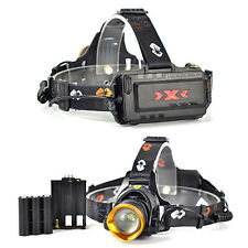 Rechargeable 2500LM XM-L T6 LED Zoomable AAA/AA/18650 Headlamp Headlight Torches