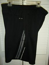 LEVEL 8 QUICK DRY GYM SHORTS SIZE 41-42 BLACK WITH WHITE GREY ACCENT  POCKETS