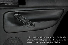 GREY STITCH 2X REAR DOOR CARD SKIN COVERS FITS VW GOLF 4 MK4 JETTA 98-05 5DR