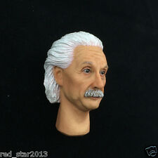 KUMIK 1/6 KM012 Albert Einstein Male Head Carved W Neck F 12'' Figure Body