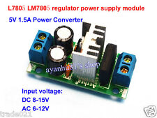 LM7805 L7805 AC/DC to 5V 1.5A Regulator Rectifier Converter Power Supply Module