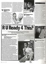 PRINCE live video review 1988 UK ARTICLE / clipping