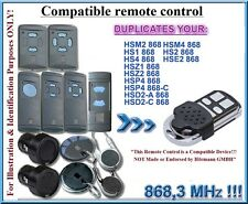Compatible with Hormann HS, HSE, HSZ, HSD, HSM Remote Control 868.3MHz, clone