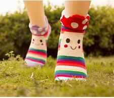 Lot 3 Pair Kawaii Cute mushroon girl Cotton ankle Socks Woman Winter Warm Korean