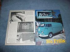 "1964 Volkswagen Panel Van Vintage Article ""No Frills"" VW Bus"