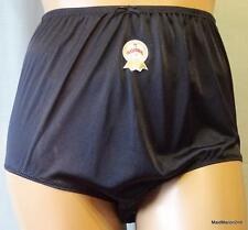 VINTAGE STYLE SILKY SHEER BLACK NYLON PANTIES KNICKERS XXL