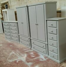 HANDMADE AYLESBURY (GREY) 4 PIECE BEDROOM SET (ASSEMBLED) NOT FLAT-PACK!!!