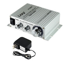 LP 2020A Tripath Class T HIFI Audio Amplifier 20x2W AMP Power Supply Silver New