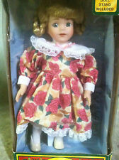 Porcelain doll by soft expressions - flower dress Holiday classics genuine S#E7