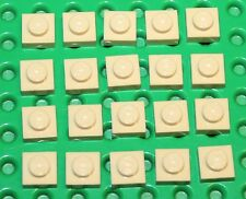 Lego Tan Plate 1x1 20 pieces NEW!!!