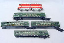 Piko HO DEUTSCHE REICHSBAHN BR 211 LOCOMOTIVE + 4x DOUBLE DECKER WAGON Set NM`78