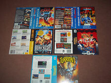 Sega Megadrive Replacement Game Box Art Sleeves/Inserts.REPRODUCTION.NO GAME.
