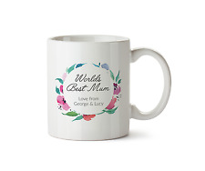 Worlds Best Mum Love From PERSONALISED Mug Gift Mothers Day Ceramic Cup Tea 10oz