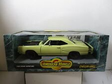 1/18 ERTL AMERICAN MUSCLE YELLOW 1969 DODGE SUPERBEE
