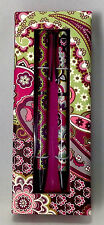Vera Bradley Very Berry Paisley Perfect Match Pen & Pencil Set Ball Point