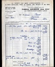 """LA FERTE-SAINT-AUBIN (45) OUTILLAGE / LIMES RAPES """"Camille LECONTE"""" voyagée 1953"""