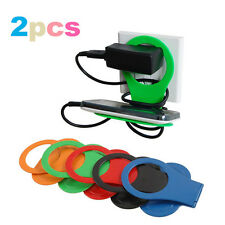 2PCS Foldable Wall Charger Mount Holder Stand Shelf F Cell Phone MP3 Iphone HTC